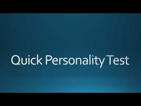 Quick Personality Test