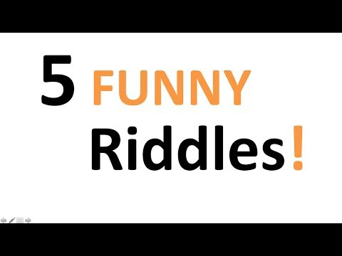 5 Funny Riddles – can you solve them?